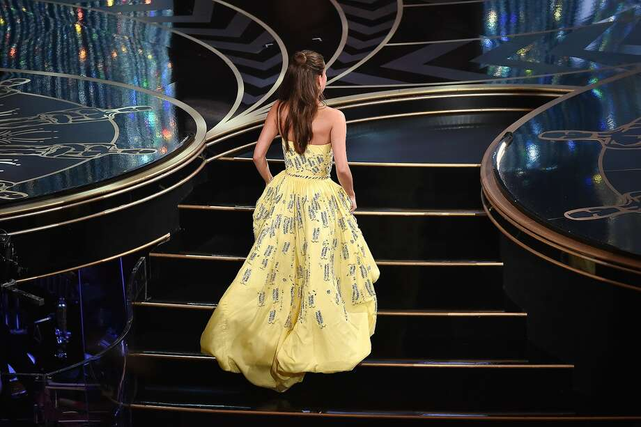 Actress Alicia Vikander walks onstage to accept the Best Supporting Actress award for 'The Danish Girl' during the 88th Annual Academy Awards at the Dolby Theatre on February 28, 2016 in Hollywood, California. Photo: Kevin Winter, Getty Images