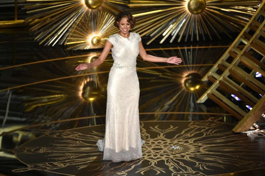 Actress Stacey Dash speaks onstage during the 88th Annual Academy Awards at the Dolby Theatre on February 28, 2016 in Hollywood. Photo: Kevin Winter, Getty Images