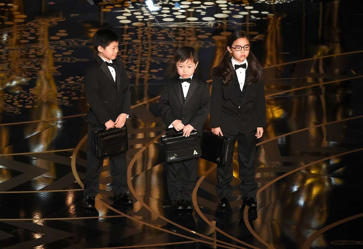 Children participate in a skit at the Oscars on Sunday, Feb. 28, 2016, at the Dolby Theatre in Los Angeles.