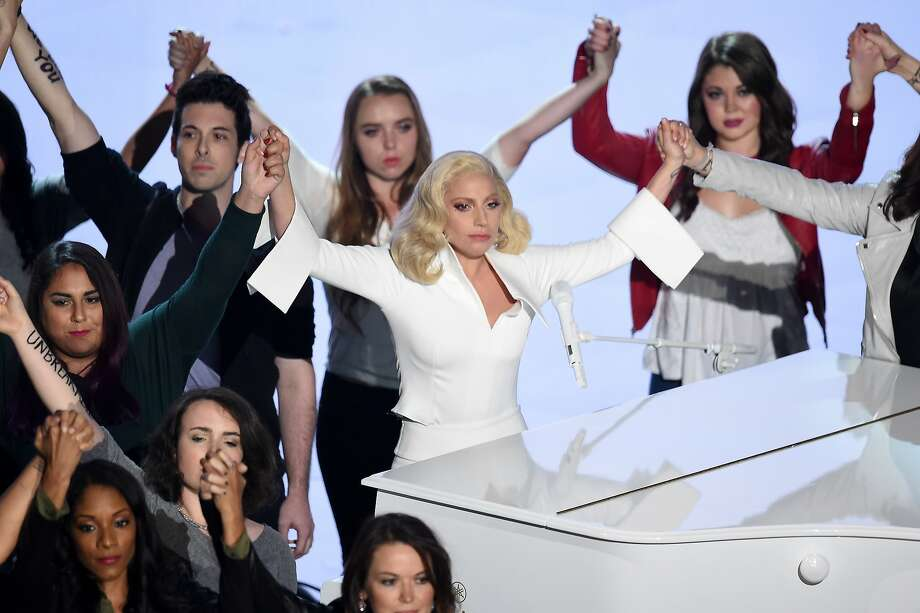 Singer-songwriter Lady Gaga performs onstage during the 88th Annual Academy Awards at the Dolby Theatre on February 28, 2016 in Hollywood, California. Photo: Kevin Winter, Getty Images