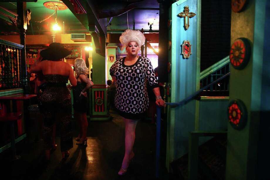 """""""This is the only weekly drag show that is owned and produced by the Queens,"""" says Mama Tits aka Brian Peters, producer of the  Mimosas with Mama show on Sunday, Feb. 28, 2016, at The Unicorn in Capitol Hill.  Mimosas with Mama is a brunch-time variety show featuring skits, comedy, lip-synching and a mini-musical every Sunday at 1:00 p.m.  The cast will be performing in Puerto Vallarta for the month of March but will return to Seattle April 3rd. Photo: GENNA MARTIN, SEATTLEPI.COM / SEATTLEPI.COM"""
