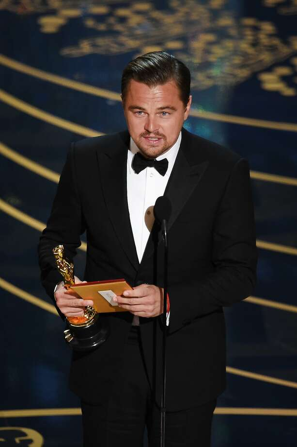 Actor Leonardo DiCaprio accepts the Best Actor award for 'The Revenant' onstage during the 88th Annual Academy Awards at the Dolby Theatre on February 28, 2016 in Hollywood, California. Photo: Kevin Winter, Getty Images