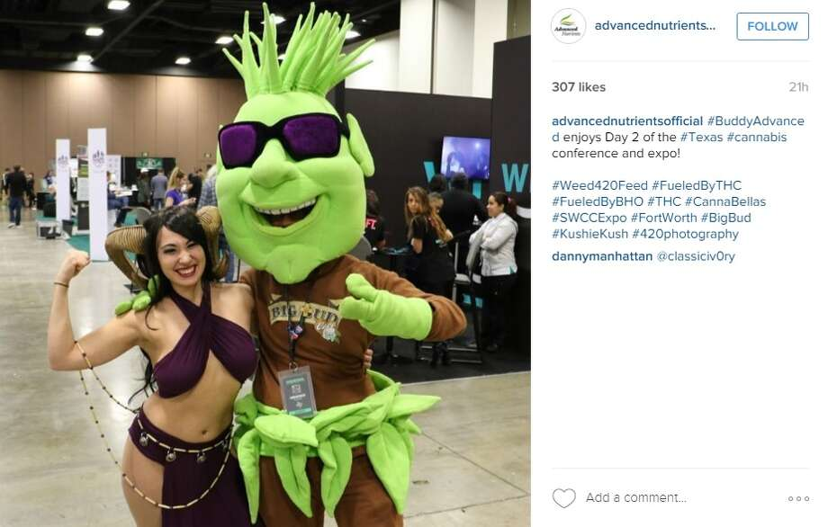 """#BuddyAdvanced enjoys Day 2 of the #Texas #cannabis conference and expo,"" @advancednutrientsofficial. Photo: Instagram.com"