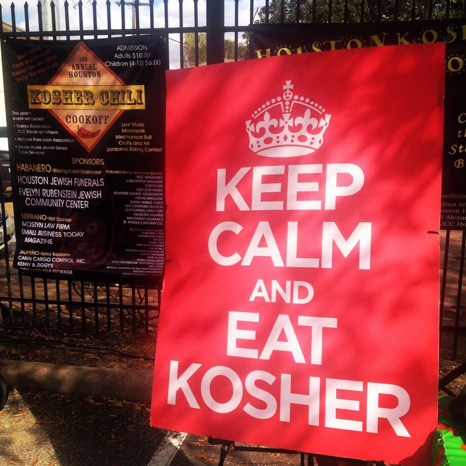 Photo diary judging a kosher chili contest houston for What does it mean to have a kosher kitchen