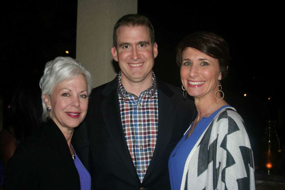Mary Favre, left, chatted with Trey and Heather Reichert at the sponsor party. Photo: Joan Vogan / For The Chronicle