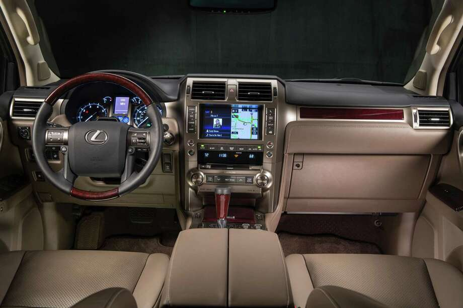 The Lexus GX 460 has power moonroof, integrated HomeLink, 10-way power front seats as standard. If the base nine-speaker stereo isn't good enough, there's always the 17-speaker Mark Levinson system. Photo: Lexus / 2012 David Dewhurst Photography