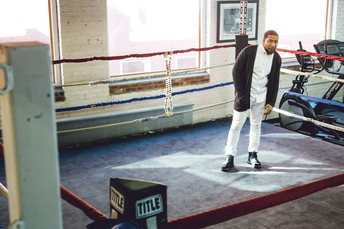Jahan Nostra at Revolution Training. His brother is a boxer who participates at Revolution Training. This boxing ring was also featured in his video, Welcome Home.