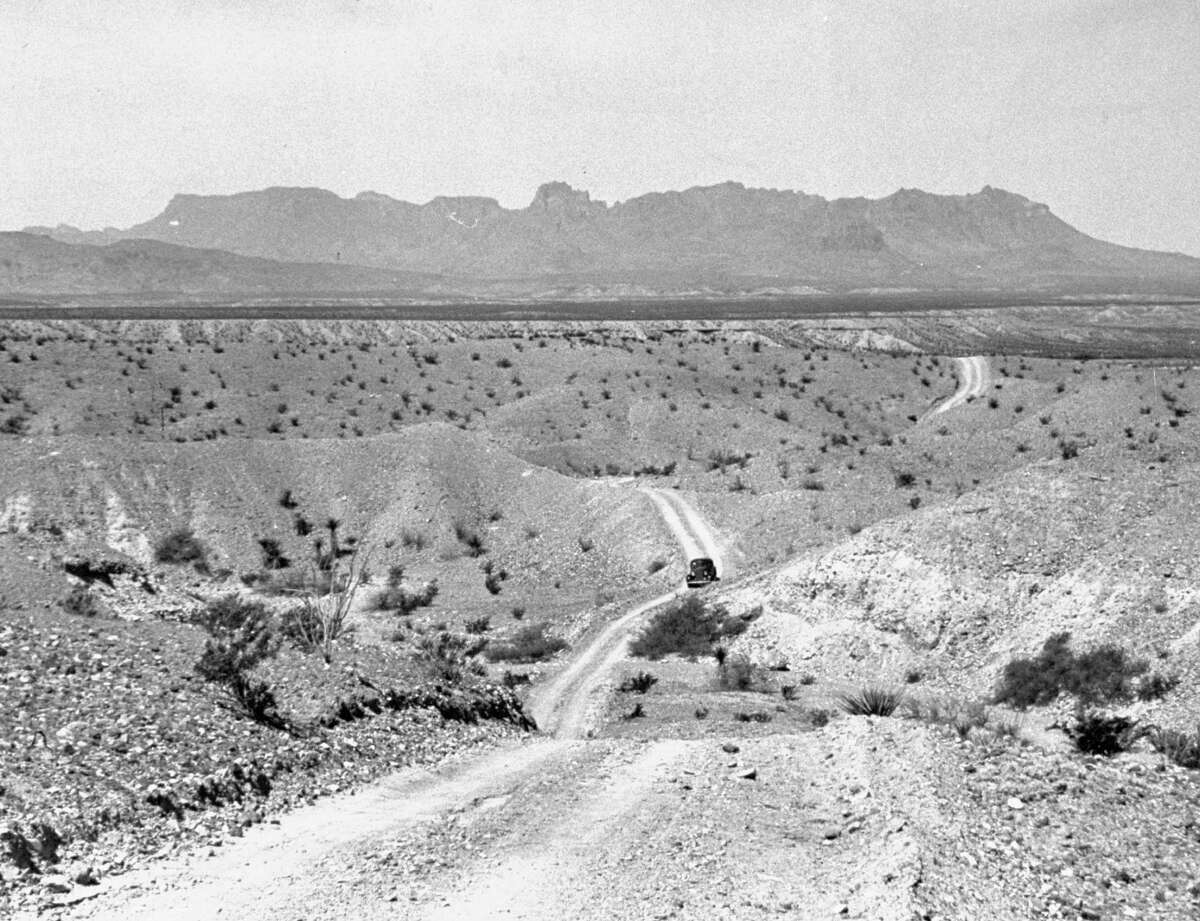 A view showing the badlands of the Big Bend.