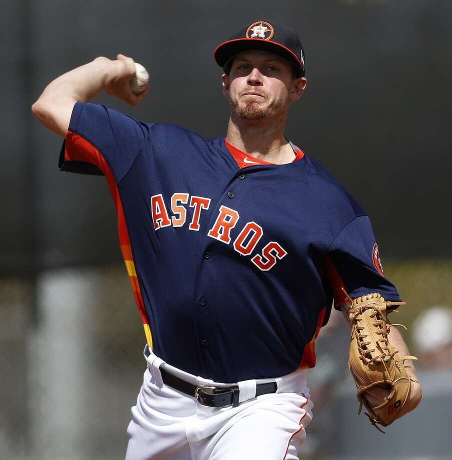 Houston Astros pitcher Chris Devenski (66) during spring training in Kissimmee, Florida, Monday, Feb. 22, 2016.( Karen Warren / Houston Chronicle )