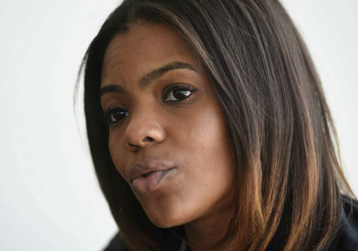 Degree180 CEO Candace Owens speaks about racism and bullying at her home office in Stamford, Conn. Monday, Feb. 29, 2016. Owens was bullied with racist threats as a student in high school and is now launching an anti-bullying website, Social Autopsy, which launches its beta version on Friday, March 4.
