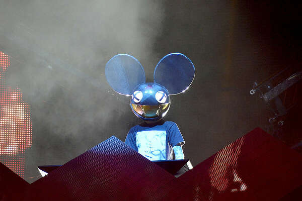 DEADMAU5 performs live for fans as part of the 2014 Future Music Festival at RNA Showgrounds on March 1, 2014 in Brisbane, Australia.