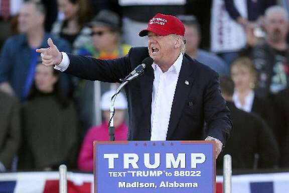 Donald Trump campaigning in Alabama.