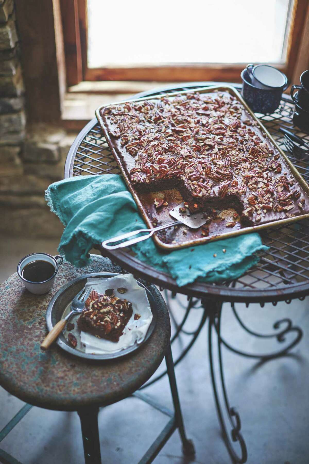 """Texas Sheet Cake from """"United Tastes of Texas: Authentic Recipes from All Corners of the Lone Star State"""" by Jessica Dupuy (Oxmooor House, $24.95)."""