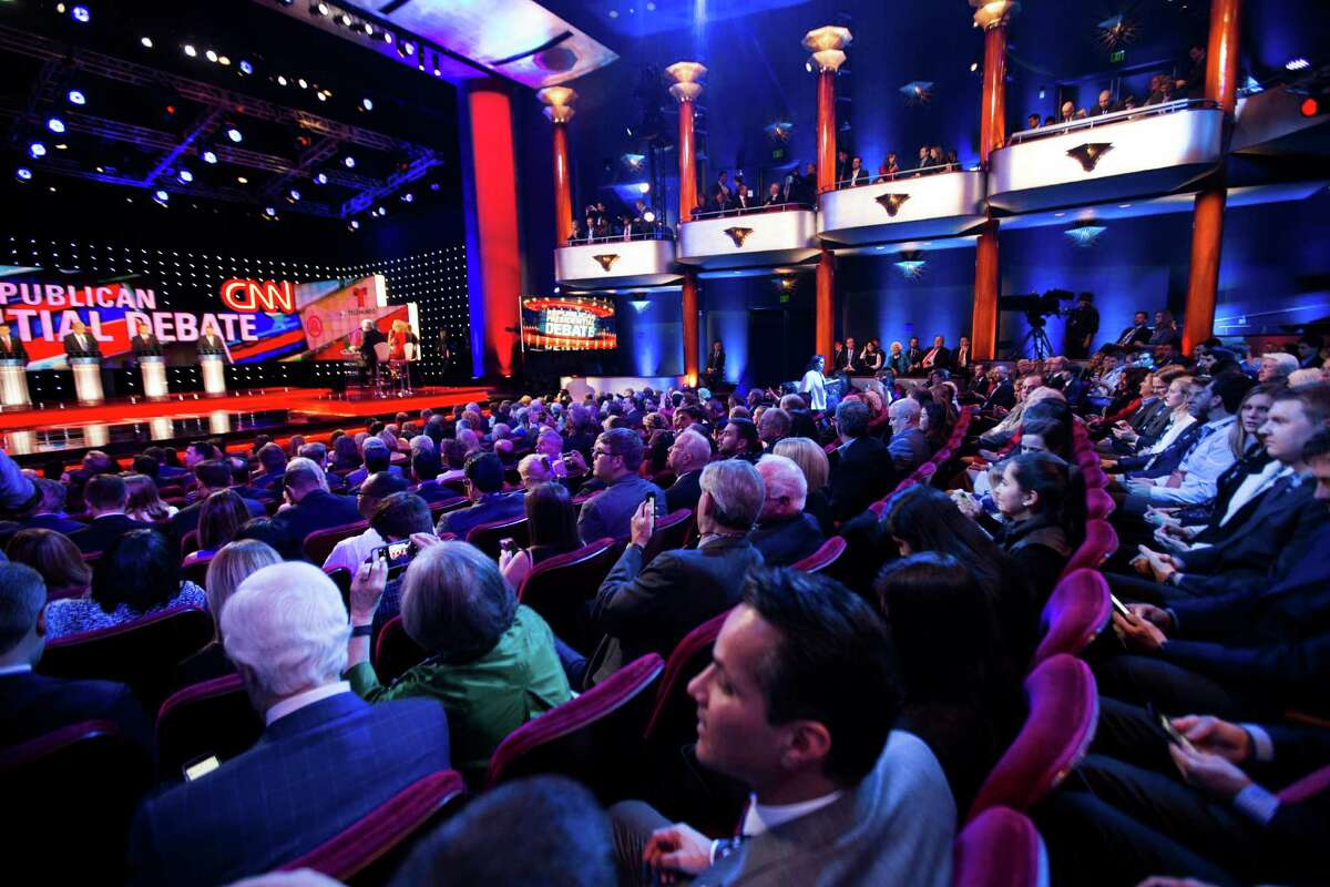 Republican presidential primary debate at the University of Houston takes off, Thursday, Feb. 25, 2016, in Houston.