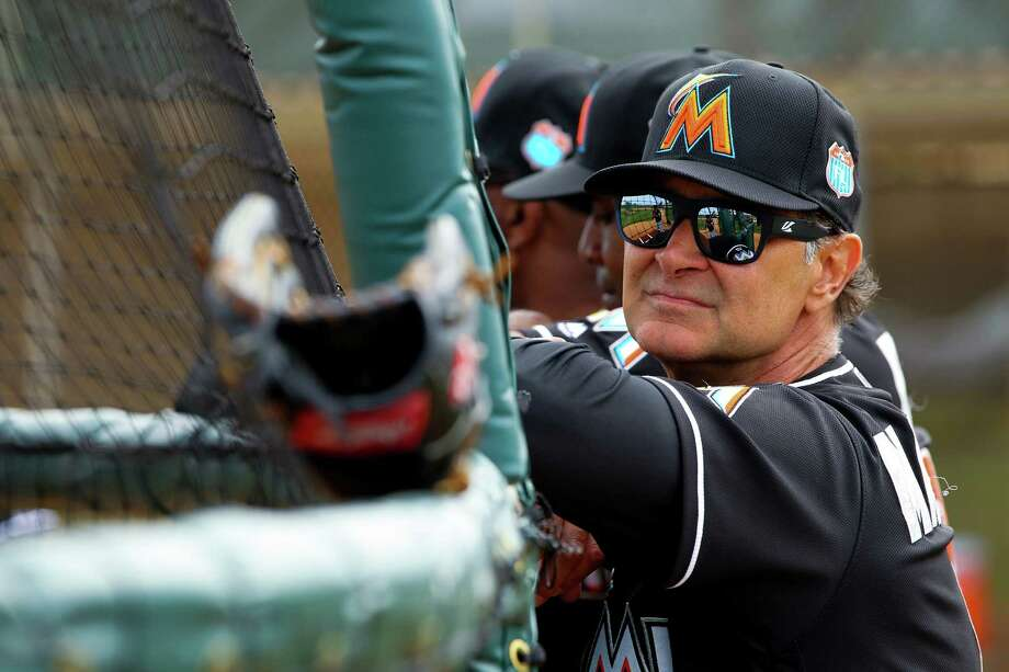 JUPITER, FL - FEBRUARY 23: New manager Don Mattingly #8 of the Miami Marlins during a team workout on February 23, 2016 in Jupiter, Florida. (Photo by Rob Foldy/Getty Images) ORG XMIT: 604621815 Photo: Rob Foldy / 2016 Getty Images
