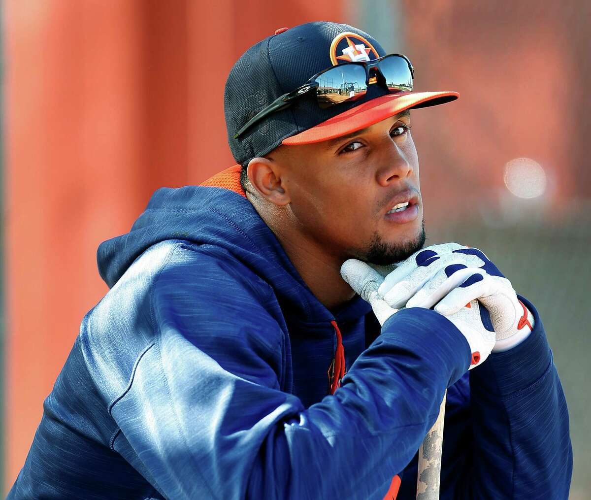 Astros outfielder Carlos Gomez has been on the disabled list with a bruised rib cage since May 17.