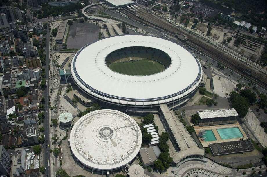 "Aerial view of the Maracana (Mario Filho) Stadium  in Rio de Janeiro, Brazil, on February 3, 2016.  AFP PHOTO/VANDERLEI ALMEIDA Stadiun Olimpic better known as ""Engenhao""VANDERLEI ALMEIDA/AFP/Getty Images Photo: VANDERLEI ALMEIDA / AFP"