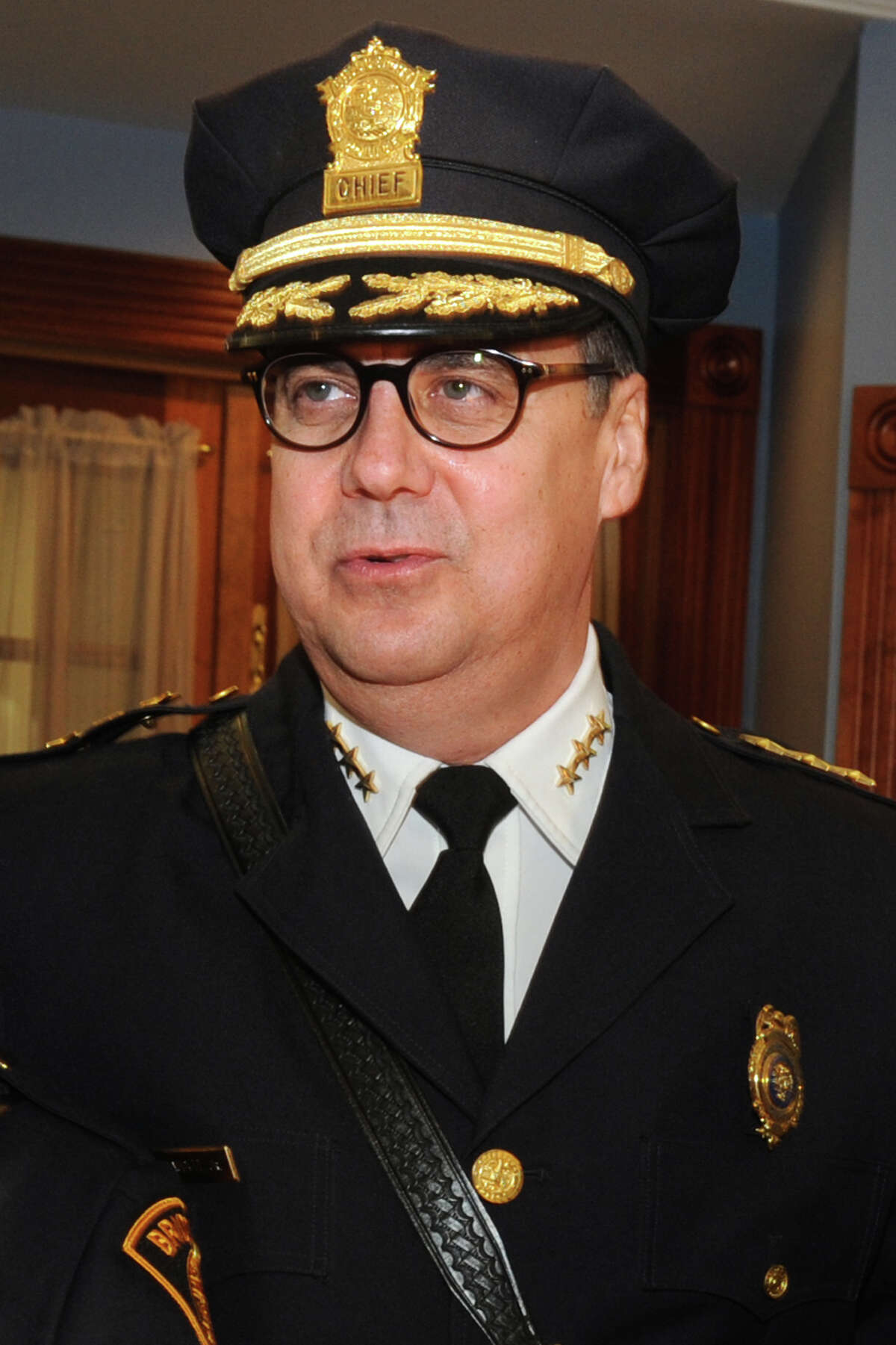 Bridgeport Police Chief Joseph Gaudett, of Newtown, plans to resign his six-figure salary later this week to receive a six-figure private contractor for the city.