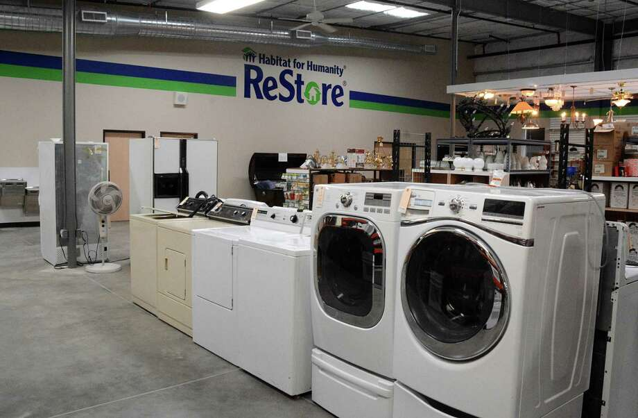 Washing machines for sale in the Montgomery County Habitat for Humanity ReStore building, 9407 SH 242. Photograph by David Hopper Photo: David Hopper, Freelance / freelance