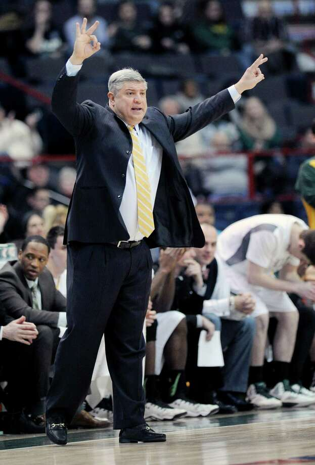 Siena head coach Jimmy Patsos instructs his players against Canisius in the first half of their Metro Atlantic Athletic Conference NCAA college basketball game in Albany, N.Y., Thursday, Feb. 11, 2016. (Hans Pennink / Special to the Times Union) ORG XMIT: HP102 Photo: Hans Pennink / Hans Pennink