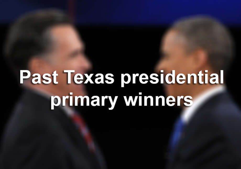 This year marks the 40th anniversary of the first primary in Texas, which was held in 1976. Here is a rundown of the republicans and democrats that won Texas primaries.Sources: Texas Secretary of State's website and the Texas Almanac Photo: SAUL LOEB, File / AFP