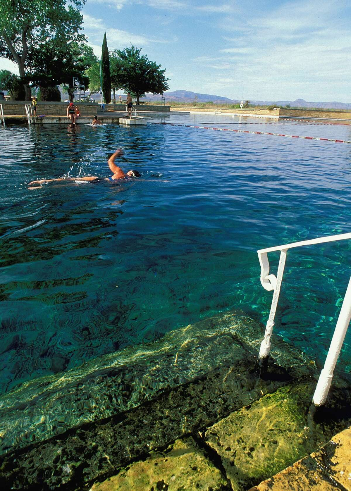 Balmorhea State Park has a spring-fed pool