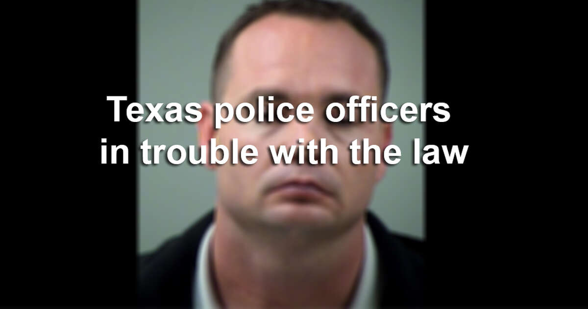 Click through the slideshow to see a list of Texas law enforcement officials who have been in trouble with the law.