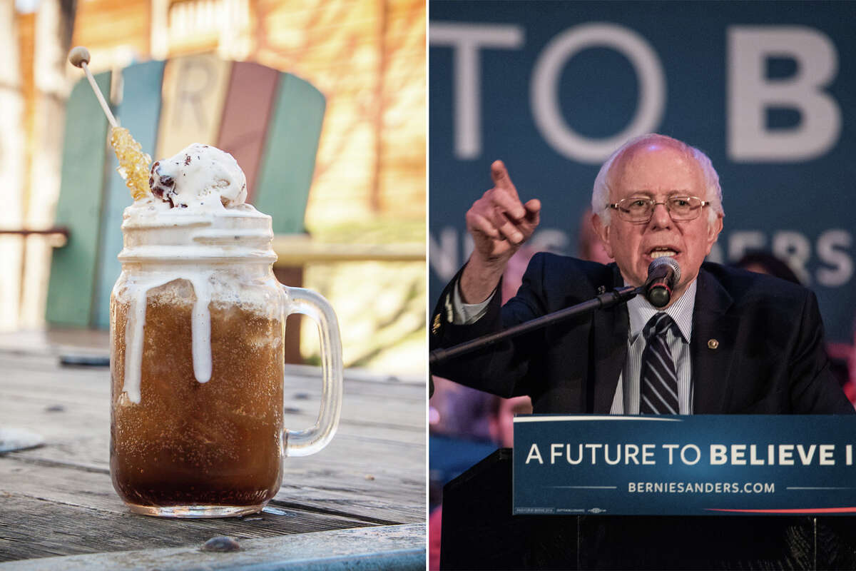 The Socialist Feel the Bern with this progressive cocktail topped with a scoop of Ben & Jerry's Cherry Garcia and served with a straw of Vermont maple syrup. It's free, plus $9 in taxes. We'll redistribute $3 of every purchase to Kidd's Kids.