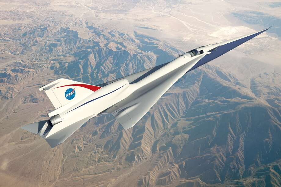 NASA caption: This is an artist's concept of a possible Low Boom Flight Demonstration Quiet Supersonic Transport (QueSST) X-plane design. The award of a preliminary design contract is the first step towards the possible return of supersonic passenger travel – but this time quieter and more affordable. Credits: Lockheed Martin