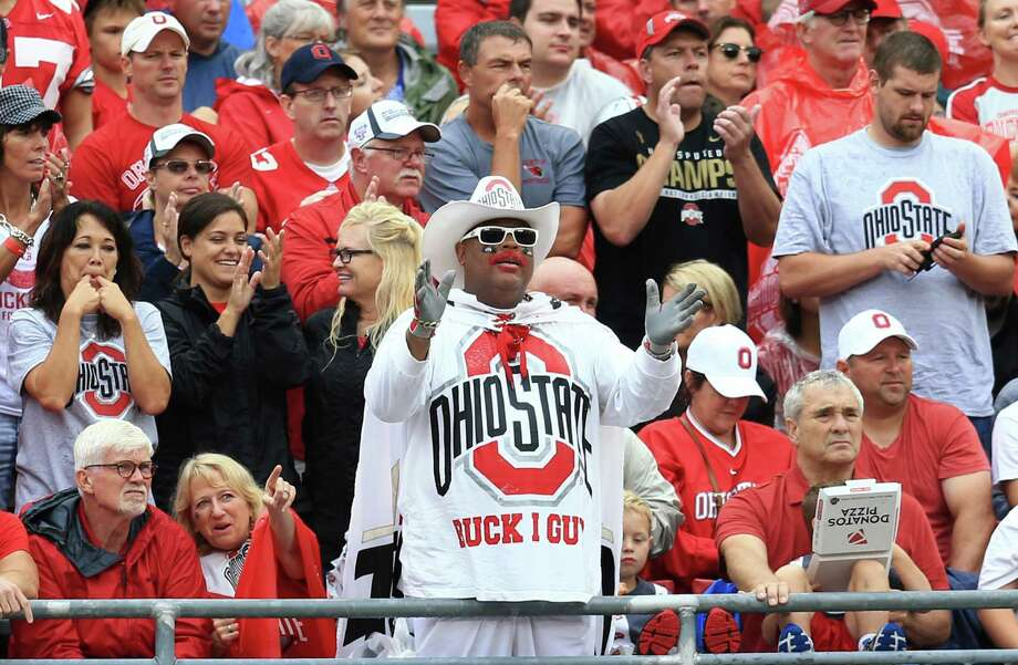 No. 1 Ohio State (1,112 points)Total appearances: 852, 77.24 percent of all polls.First appearance: 1936.No. 1 rankings: 105.Championships: Five (last 2014).Best full decade: 1970s appeared in 92.57 percent of polls.Worst full decade: 1940s appeared in 55.68 percent of polls.Poll point: There have only been three seasons during the 80-year history of the AP poll in which the Buckeyes were not ranked at least once, the fewest poll-less seasons of any program. Photo: Andrew Weber, Getty Images / 2015 Andrew Weber