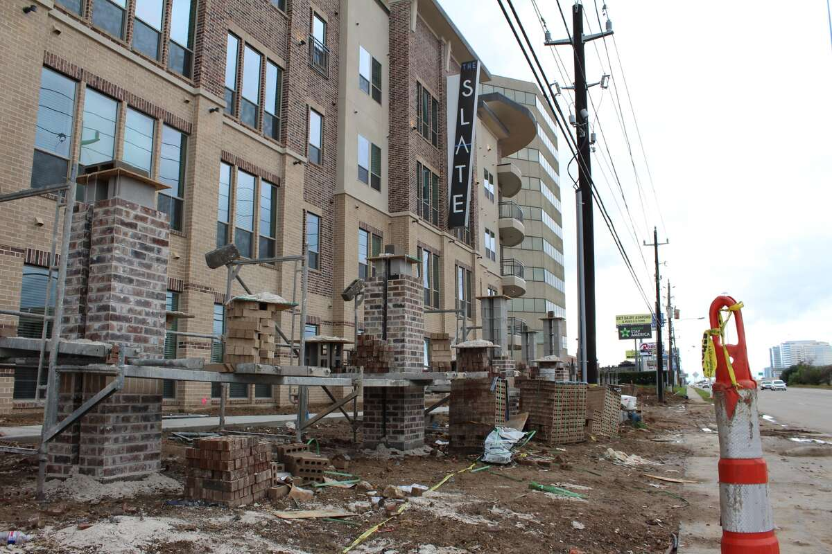 The Slate, a luxury-style apartment located near the Energy Corridor and Memorial City, represents one of many apartments recently built or opened in West Houston. The Slate opened in September and is scheduled to complete construction this month.