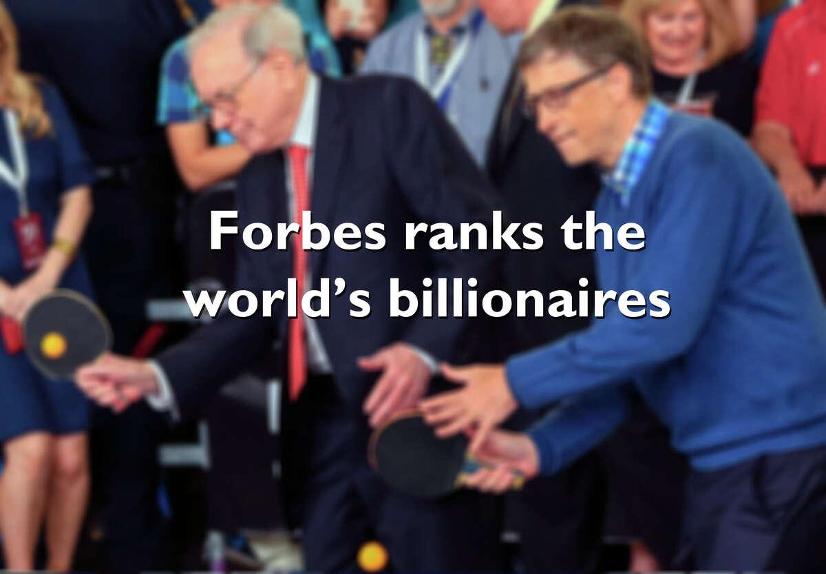 Forbes ranks the world's billionaires.