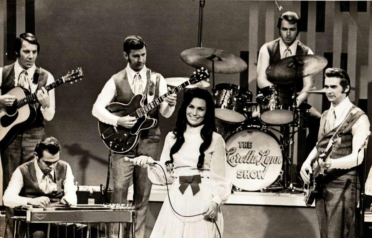 Loretta Lynn onstage in an undated photo.