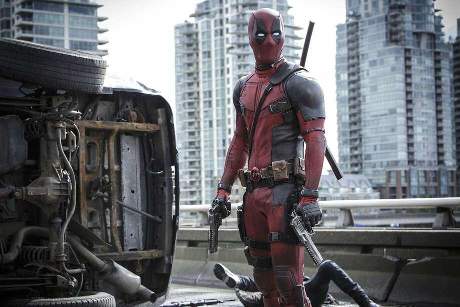"Ryan Reyonlds in ""Deadpool."" Lederer/Twentieth Century Fox Film Corp. via AP) Photo: Joe Lederer, Associated Press"