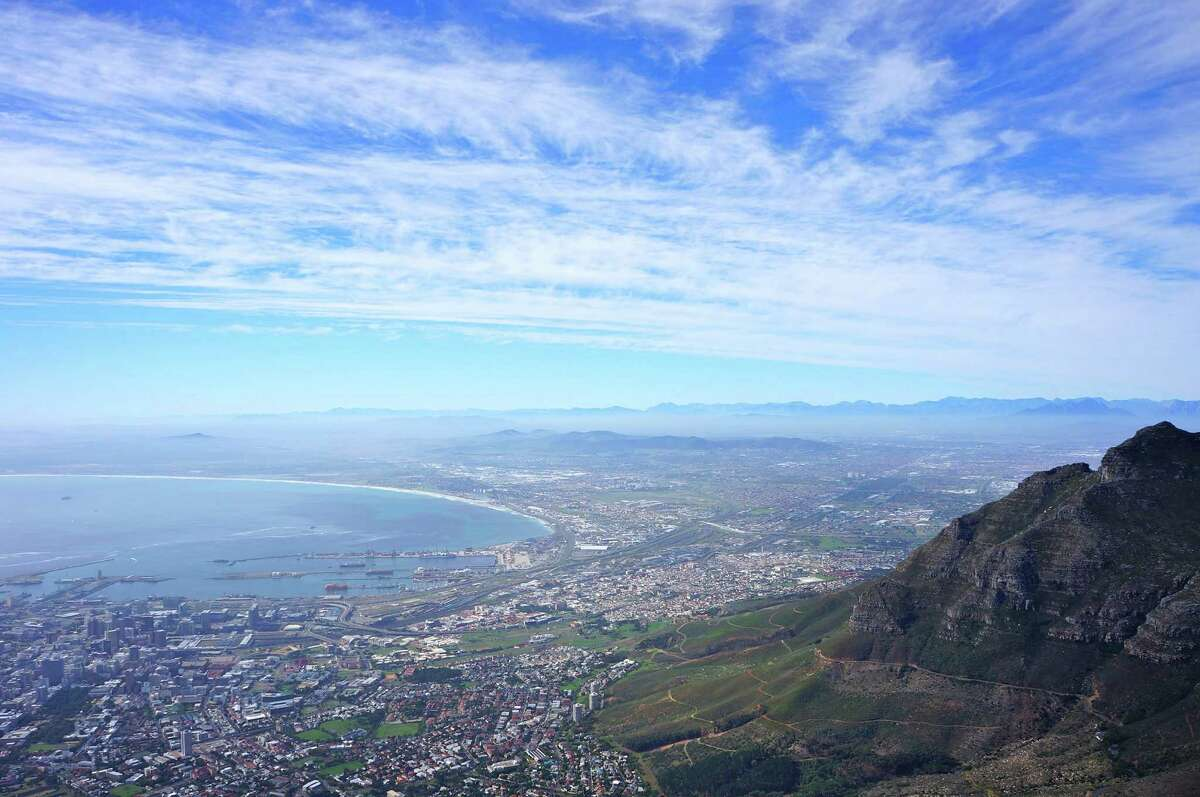 The view from Cape Town's Table Mountain is spectacular.