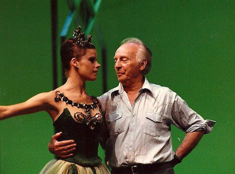 "Merrill Ashley working with George Balanchine on ""Emeralds."" Photo: Courtesy Merrill Ashley"