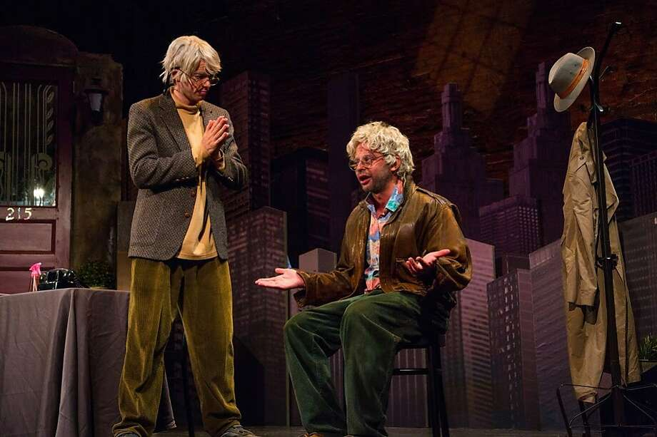"John Mulaney and Nick Kroll as George St. Geegland and Gil Faizon in the revue ""Oh, Hello."" Photo:  Christian Frarey"
