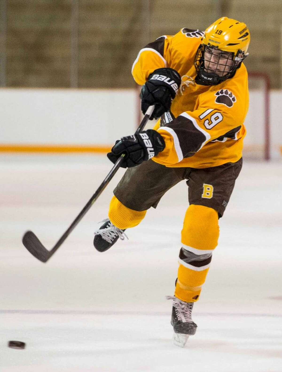 Brunswick School senior defenseman Max Fuld was recently named to the All-New England Hockey Team.