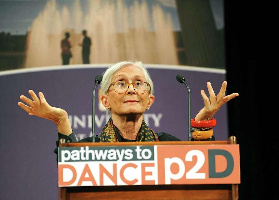 Legendary choreographer Twyla Tharp addresses launch of Pathways to Dance initiative at University at Albany on Tuesday, March 1, 2016 in Albany, N.Y.  (Lori Van Buren / Times Union) Photo: Lori Van Buren / 10035622A