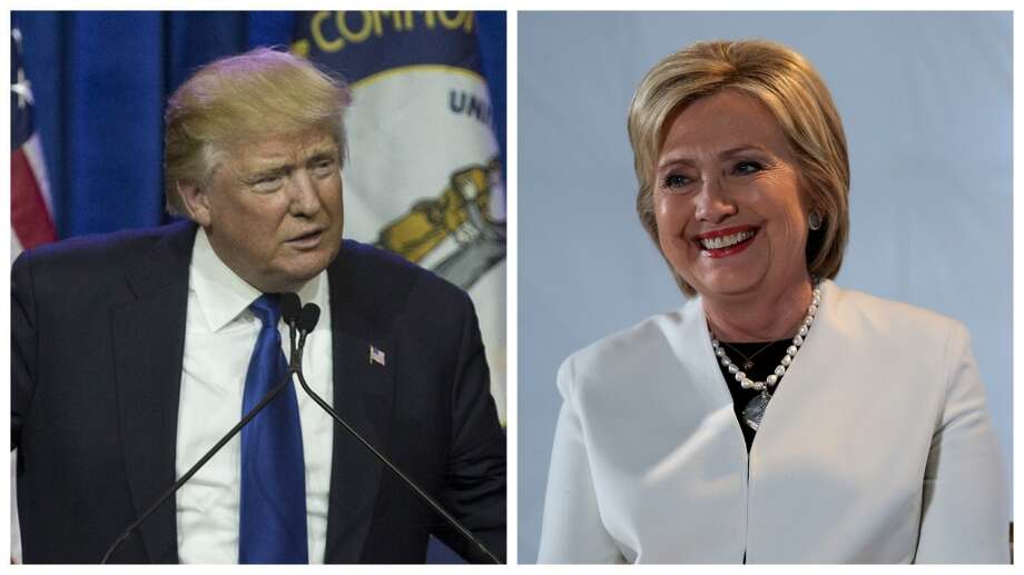 Donald Trump and Hillary Clinton start to pivot towards attacking each other. Click to see more photos from Tuesday's most recent primary elections. Photo: Aaron P. Bernstein, Getty Imagers / Justin Sullivan, Getty Images.