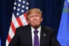El precandidato republicano en las primarias, Donald Trump.