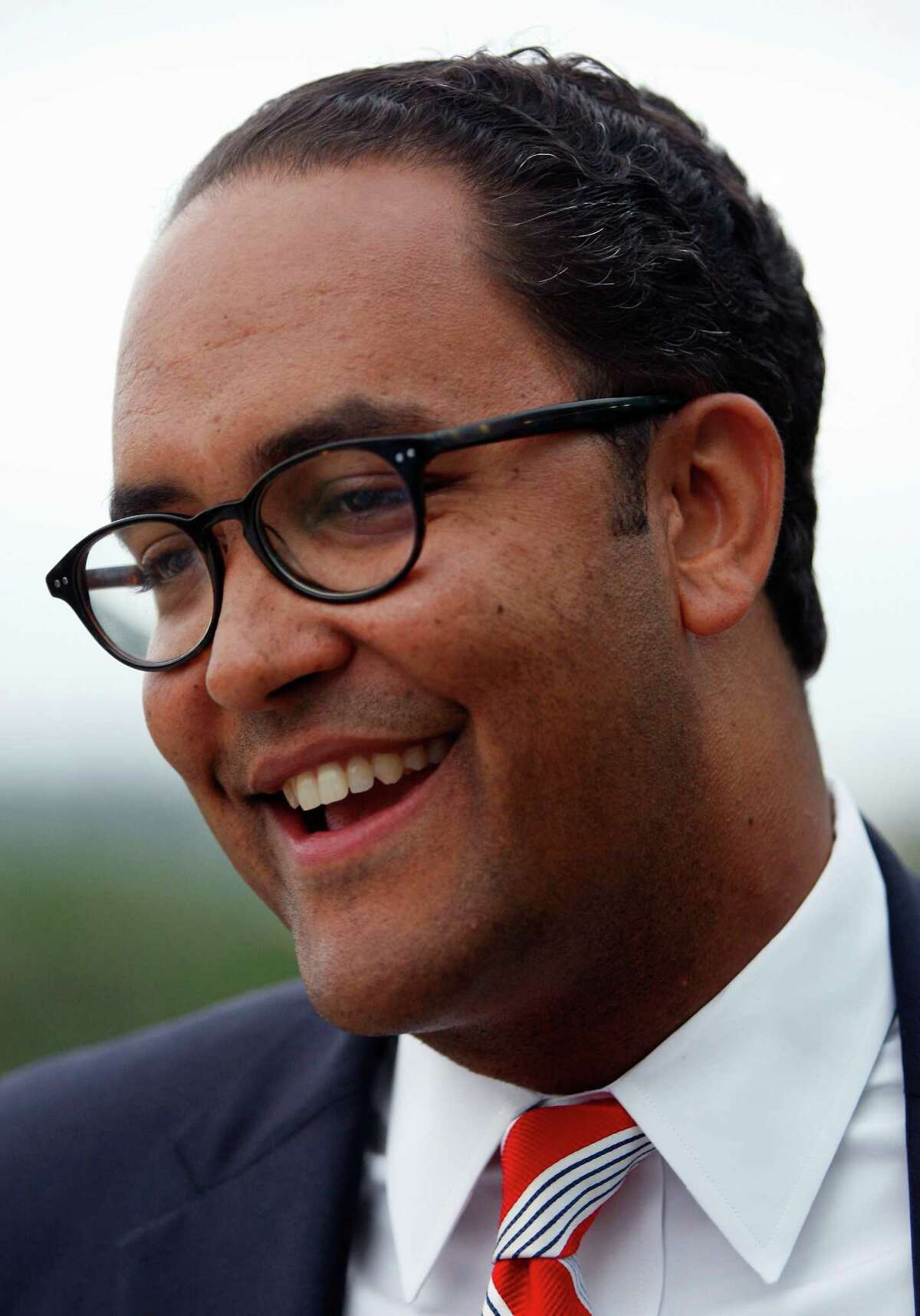 """Will Hurd is seen Tuesday night May 27, 2014 at his watch party as results roll in for his GOP primary runoff against Francisco """"Quico"""" Canseco."""