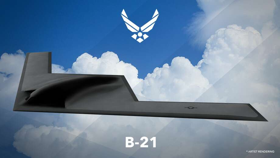 The U.S. Air Force released an artist's rendering of the planned Northrop Grumman B-21 Long Range Strike Bomber in late February. It is believed the aircraft will be capable of dropping nuclear ordinances on targets that are both far away and heavily defended by advanced aerial defense systems. Photo: U.S. Air Force
