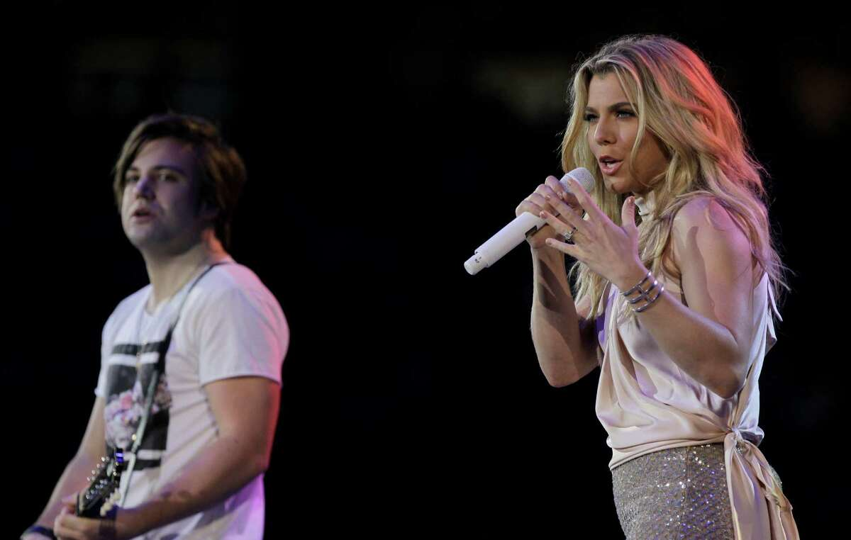 The Band Perry performs at RodeoHouston on Tuesday.