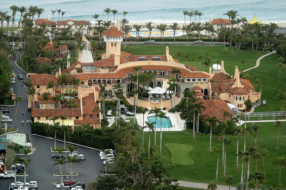 Aerial view of Mar-a-Lago, the estate of Donald Trump, in Palm Beach, Fla. Photo: New York Daily News Archive, NY Daily News Via Getty Images