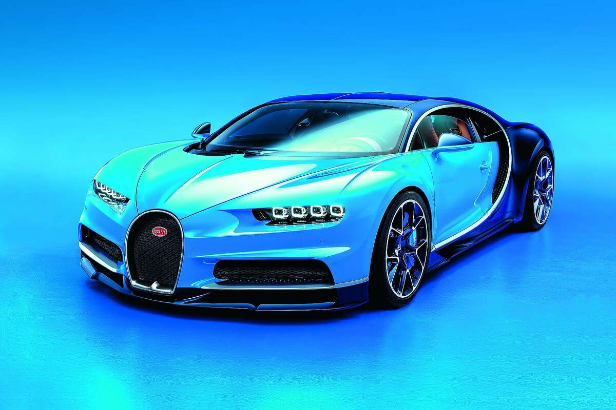The new Bugatti Chiron, the world's first production car with 1,500 horsepower.