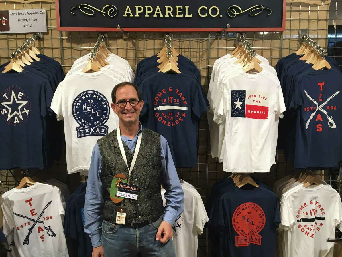 Paris Texas Apparel Co. sells sturdy Texas pride shirts, pint glasses, and poster prints. (Booth B3033)