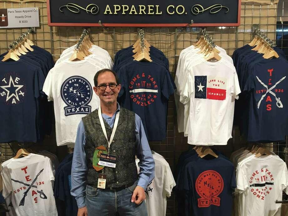Paris Texas Apparel Co.sells sturdy Texas pride shirts, pint glasses, and poster prints. (Booth B3033) Photo: Craig Hlavaty