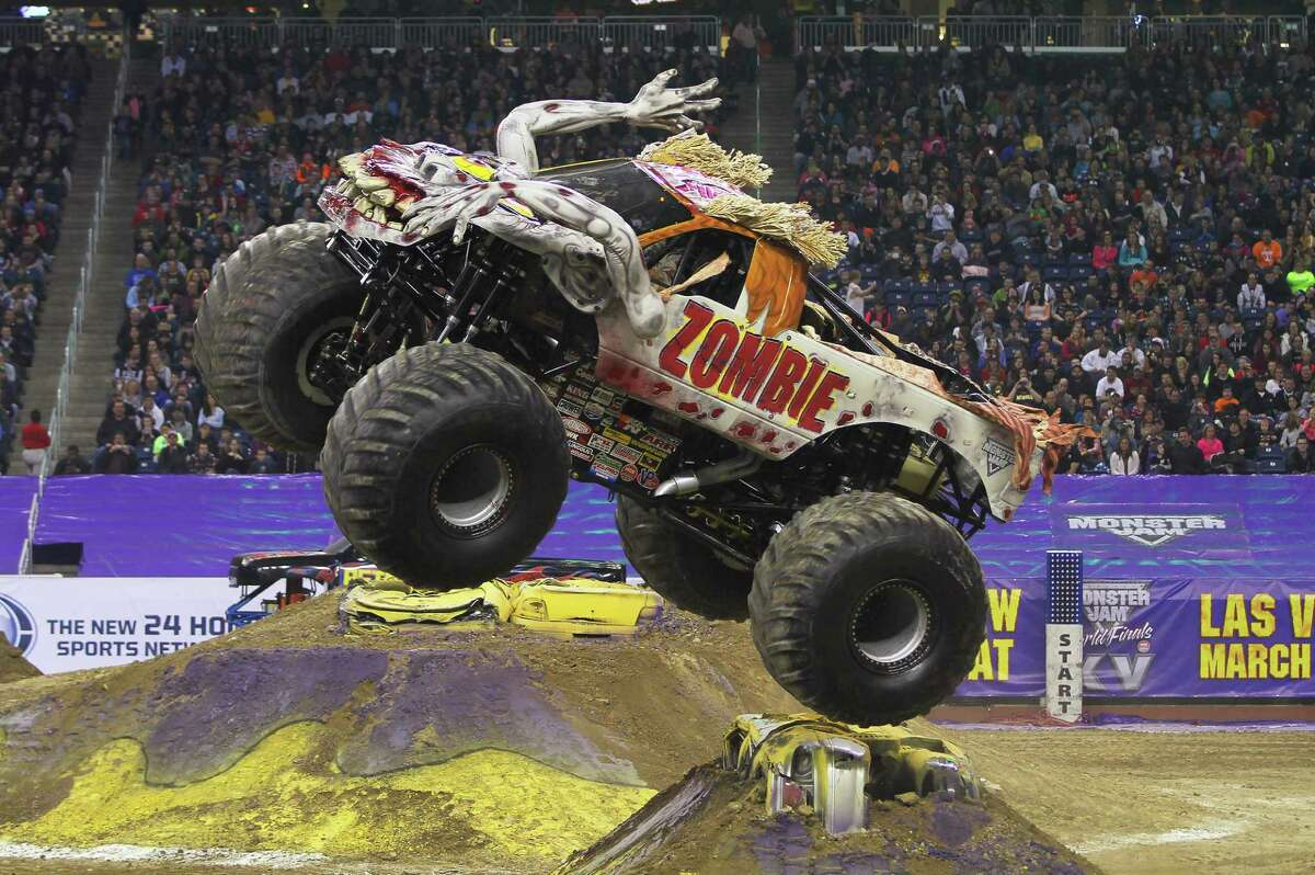Sean Duhon brings his Zombie Monster Jam truck to Bridgeport March 4-6, Friday-Sunday, to participate in competition at the Webster Bank Arena.