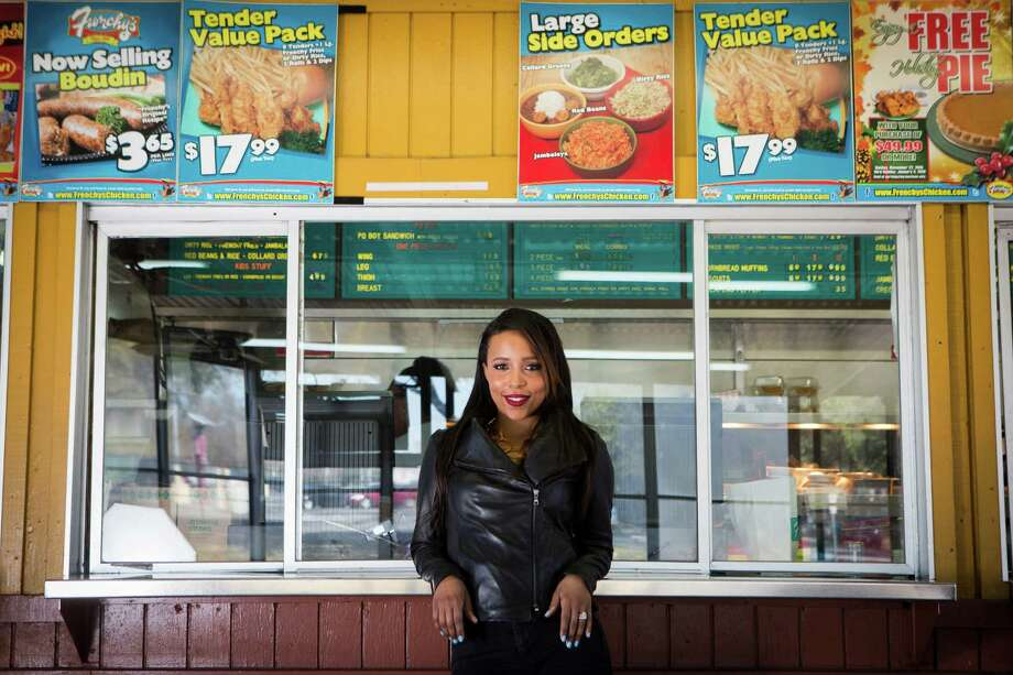 "R&B singer Coline Creuzot, ""heiress to Frenchy's Chicken,"" is the granddaughter of Percy Creuzot Jr., who opened the first stand in the Creole fried-chicken empire on Scott Street, near UH and TSU, in 1969. Photo: Marie D. De Jesus, Staff / © 2016 Houston Chronicle"